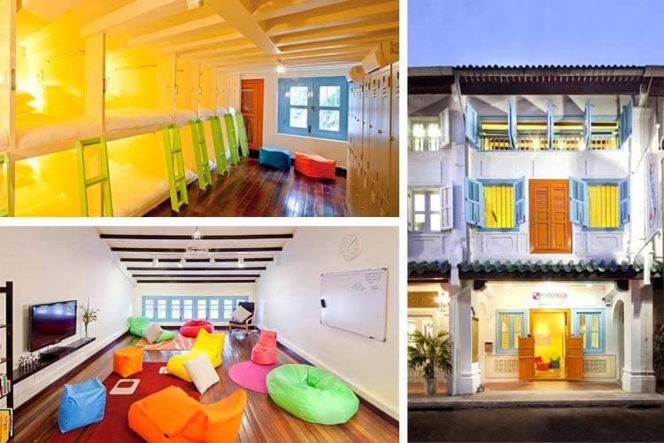 Không gian của Matchbox The Concept Hostel tại khu Chinatown của Singapore